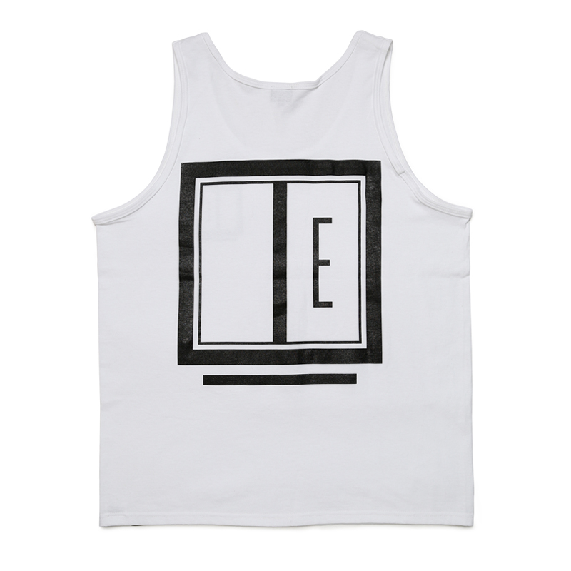E FRAME TANK TOP -WHITE-