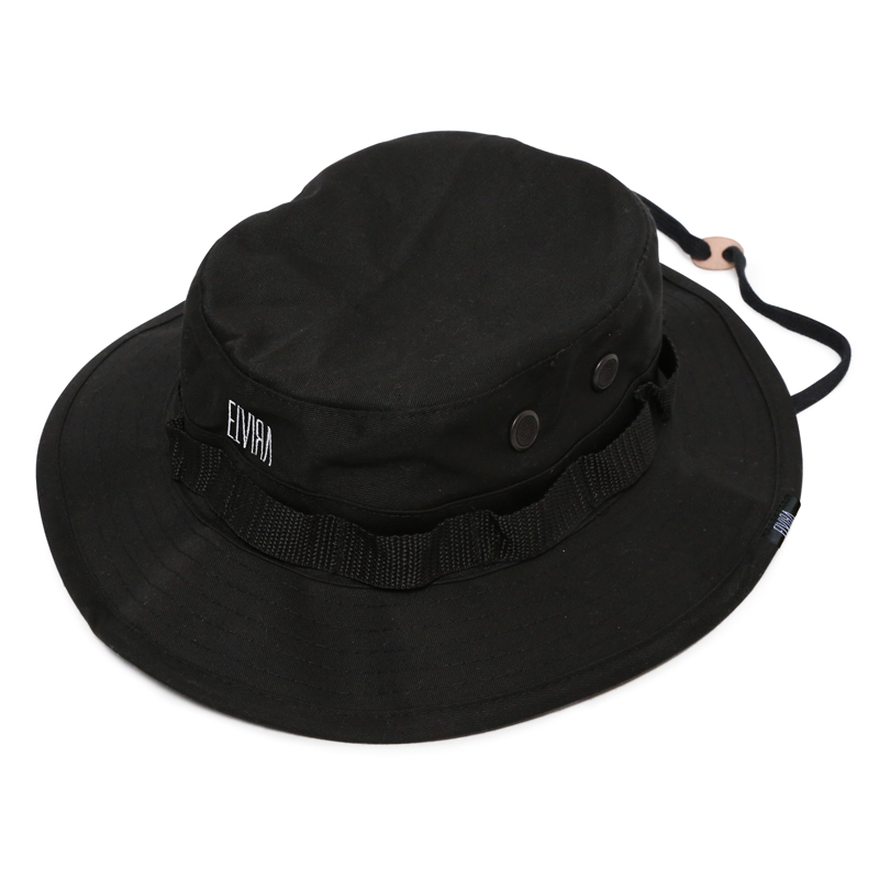 ELVIRA BOONIE HAT -BLACK-
