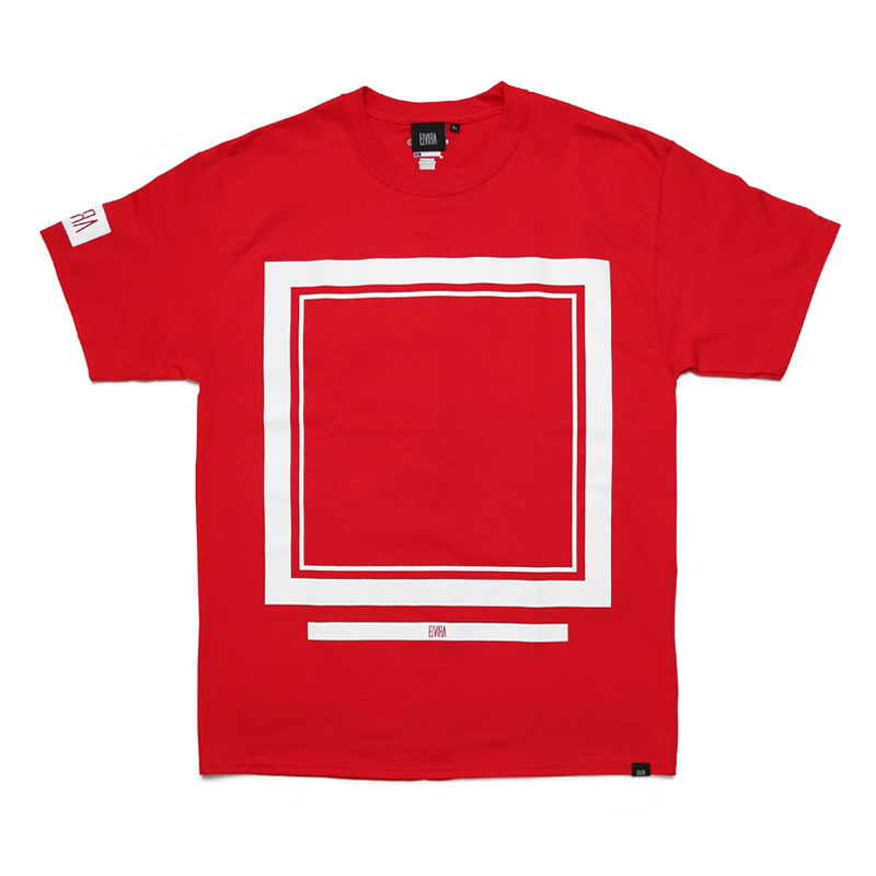 FRAME T-SHIRT  -RED-