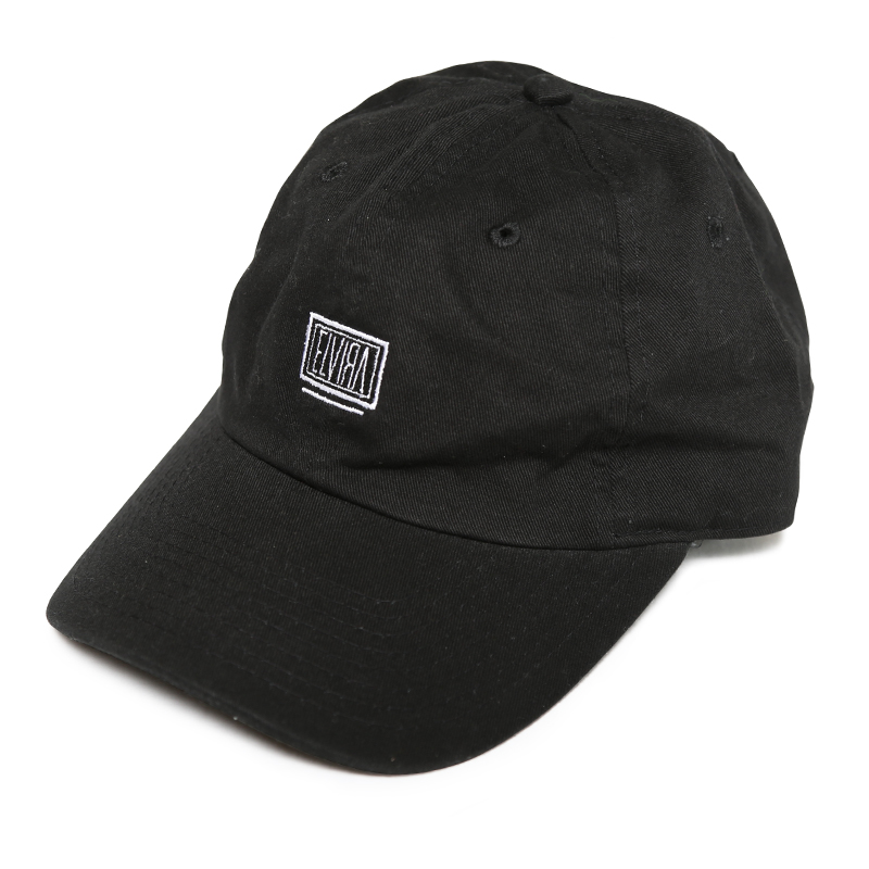 BOX LOW STRAP CAP -BLACK-