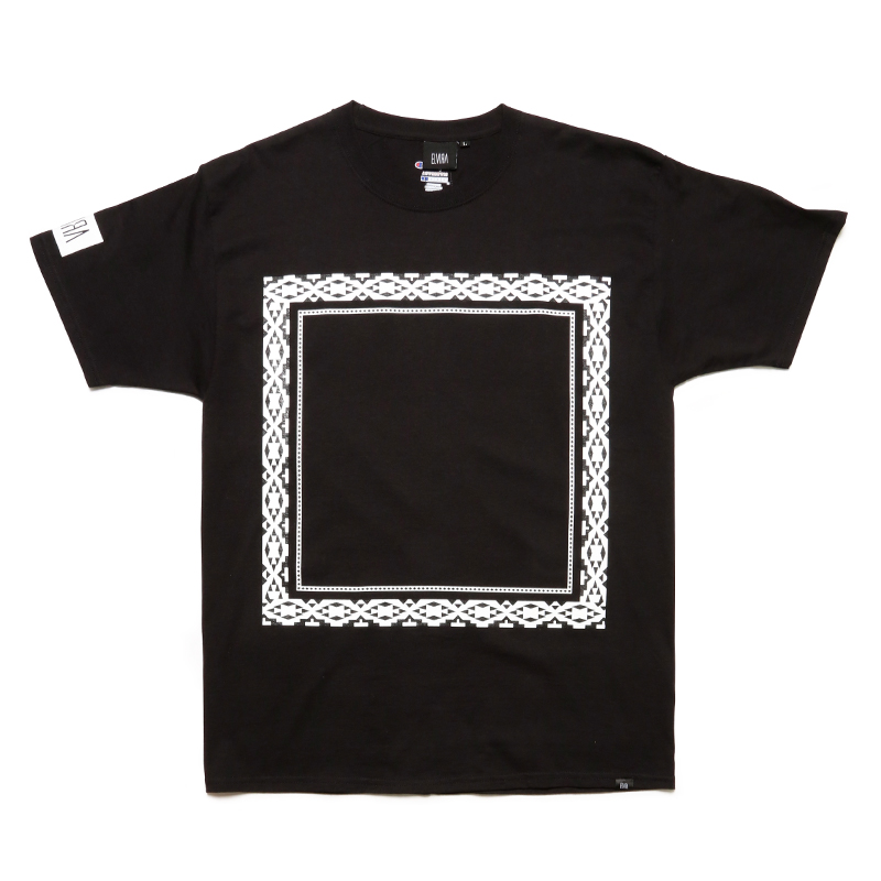 NATIVE FRAME T-SHIRT -BLACK-