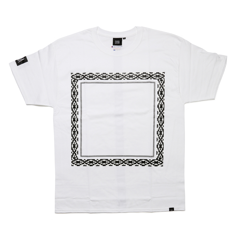 NATIVE FRAME T-SHIRT -WHITE-