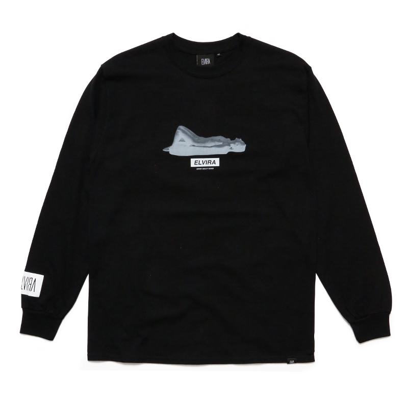 RELAXED L/S T-SHIRT -BLACK-