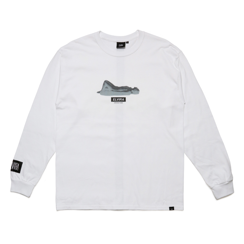 RELAXED L/S T-SHIRT -WHITE-