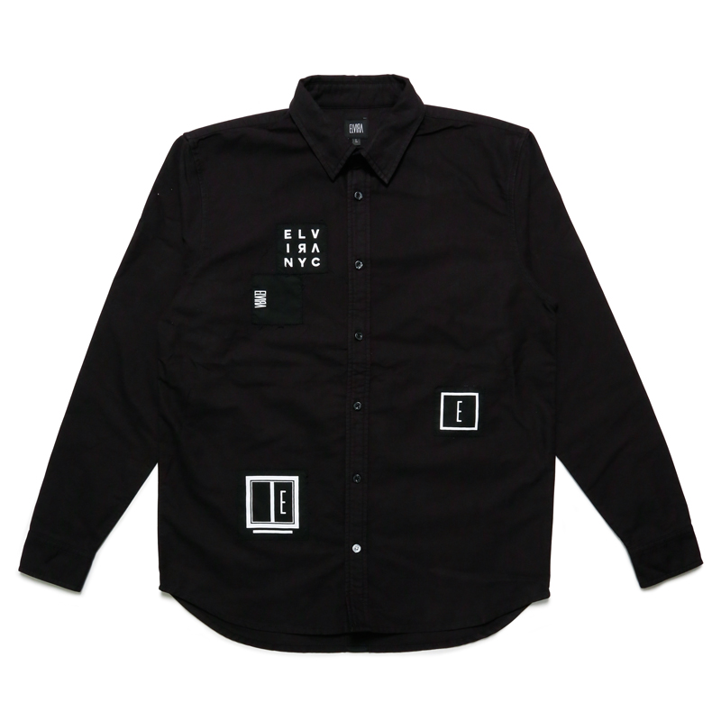 ANARCHY L/S SHIRT -BLACK-