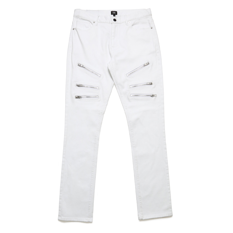 ZIP PANTS -WHITE-