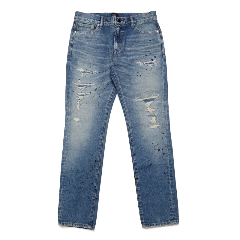 DESTOROY DENIM PANTS -WASH-
